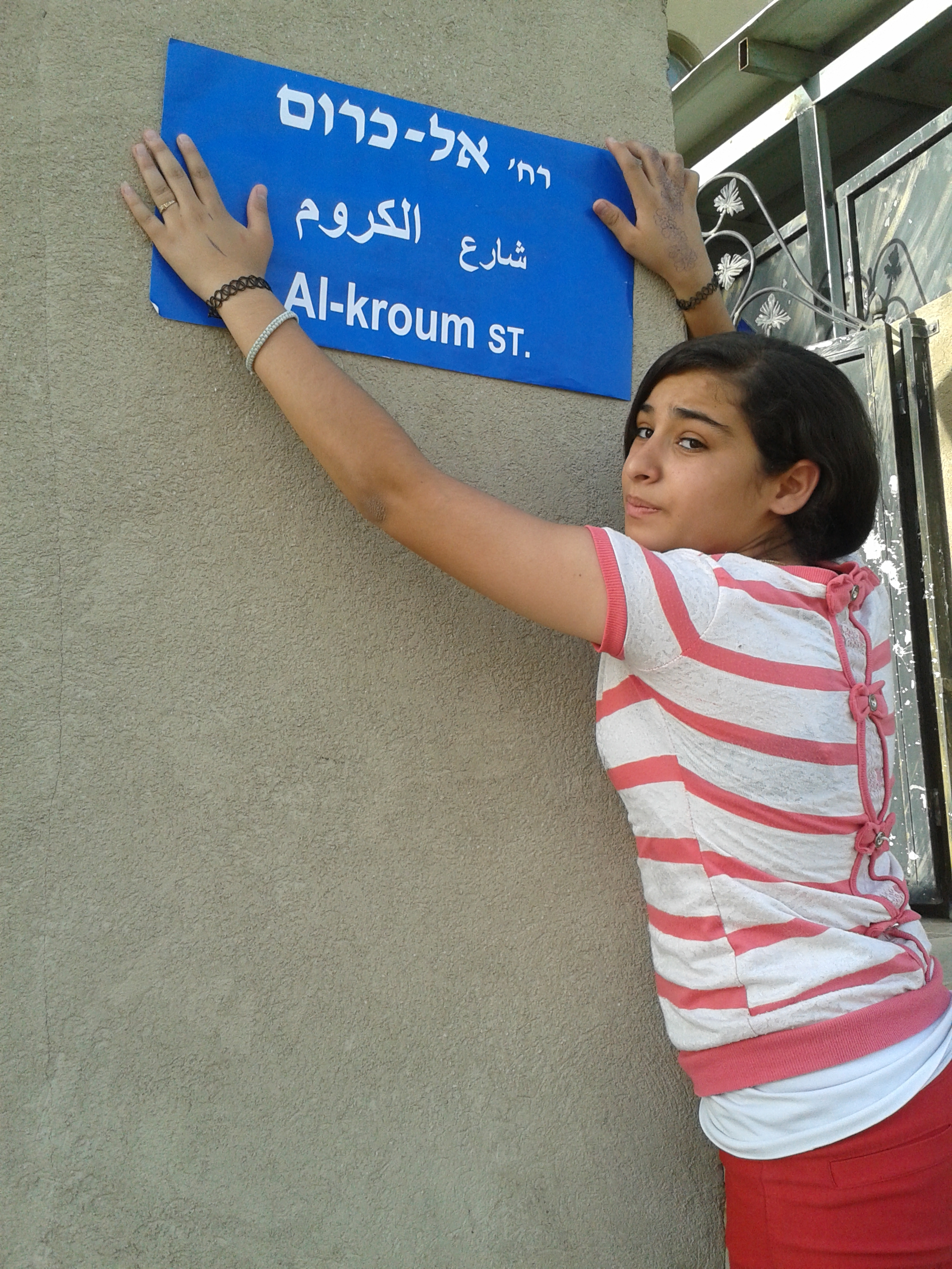 Qalanswa youth group naming the streets of their village - June 2014